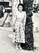 fashionable dressed smiling woman France 1948