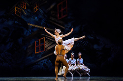 "A scene from the SCOTTISH BALLET production of ""The Fairy's Kiss"" (Le Baiser de la Fée) at the Theatre Royal, Glasgow.<br /> <br /> Scottish-born choreographer Kenneth MacMillan created The Fairy's Kiss in 1960 for The Royal Ballet, and Scottish Ballet's revival marks the 25th anniversary of his death and its first presentation since 1986.<br /> <br /> Inspired by Hans Christian Andersen's fairy tale The Ice Maiden, The Fairy's Kiss tells the story of a boy cursed with a kiss, destined for immortality. Scottish Ballet's production features new sets and costumes designed by Gary Harris, who worked closely with MacMillan.<br /> <br /> The Fairy's Kiss will be performed alongside Christopher Hampson's The Rite of Spring in Glasgow (6-7 October), Edinburgh (11-13 October), Aberdeen (24-25 October), and Inverness (3-4 November). Scottish Ballet will also perform The Fairy's Kiss at The Royal Opera House, London on 18 and 19 October. This marks the first time that the Company will have performed at this iconic venue.<br /> <br /> <br /> (c) Andrew Wilson 