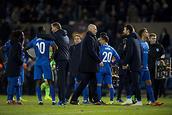 November 8, 2018 - Genk, BELGIUM - Genk's head coach Philippe Clement and Genk's players pictured after a match between Belgian soccer team KRC Genk and Turkish club Besiktas, in Genk, Thursday 08 November 2018 on day four of the UEFA Europa League group stage, in group I. BELGA PHOTO JASPER JACOBS (Credit Image: © Jasper Jacobs/Belga via ZUMA Press)