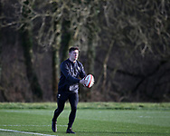 Josh Adams of Wales during the Wales Rugby team training at the Vale Resort, Hensol near Cardiff, South Wales on Tuesday 30th January 2018.  The team are preparing for the the opening Natwest 6 nations match against Scotland this weekend.  pic by Andrew Orchard, Andrew Orchard sports photography.