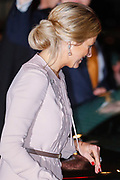 Celebration of the 75th anniversary of the Queen, with ballet of Introdans, for (former) employees and family in Utrecht<br /> <br /> On the photo:  Princess Maxima