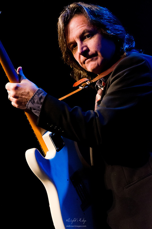 Jeff Hanna on guitar during his performance with Nitty Gritty Dirt Band at the Landis Theater in Vineland, NJ.