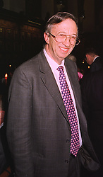 MR JOEL JOFFE, chairman of Oxfam, at a dinner in London on 2nd February 1999.<br /> MNU 79