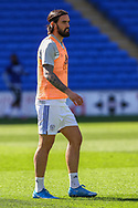 Cardiff City's Marlon Pack (21) in action during the pre-match warm-up before the EFL Sky Bet Championship match between Cardiff City and Nottingham Forest at the Cardiff City Stadium, Cardiff, Wales on 2 April 2021.