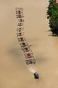 Log barge<br /> Canje River<br /> East GUYANA<br /> South America