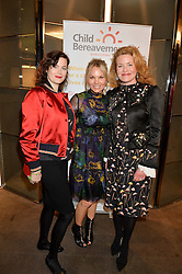 Left to right, JASMINE GUINNESS, GINA LEVETT and ERIN MORRIS at a ladies lunch in aid of the charity Child Bereavement UK held at The Bulgari Hotel, 171 Knightsbridge, London on 25th February 2016.