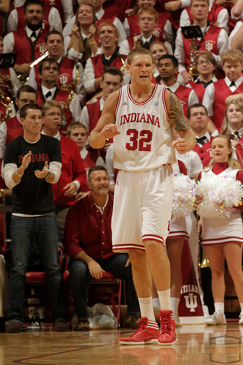 27 November 2011: Indiana Forward Derek Elston (32)   as the Indiana Hoosiers played the Butler Bulldogs in a college basketball game in Bloomington, Ind.