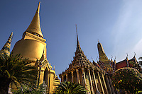 Wat Phra Kaew,  Temple of the Emerald Buddha, its full official name is Wat Phra Sri Rattana Satsadaram.  The temple is regarded as the most sacred Buddhist temple in Thailand.located within the grounds of the Grand Palace.