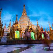 Yangon's greatest temple by dusk