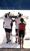 Barcelona Olympics 1992 - Lake Banyoles, SPAIN, W8+ Boating [Mandatory Credit; Peter Spurrier/Intersport Images]
