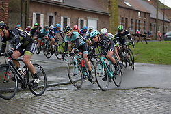 Abby-Mae Parkinson (Drops) at the 112.8 km Le Samyn des Dames on March 1st 2017, from Quaregnon to Dour, Belgium. (Photo by Sean Robinson/Velofocus)