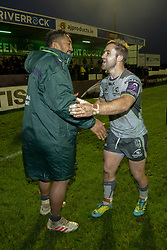 December 8, 2018 - Galway, Ireland - Bundee Aki and Caolin Blade of Connacht during the European Rugby Challenge Cup match between Connacht Rugby and Perpignan at the Sportsground in Galway, Ireland on December 8, 2018  (Credit Image: © Andrew Surma/NurPhoto via ZUMA Press)