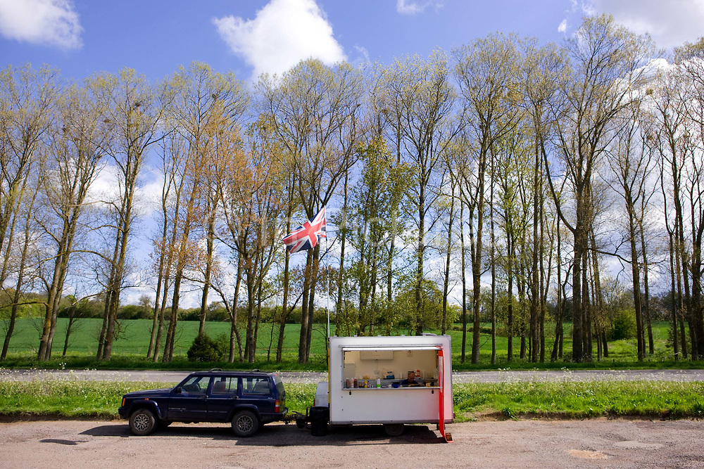A roadside burger van parked in a rural layby along the A1307 on the 13th May 2010 in Haverhill in the United Kingdom.