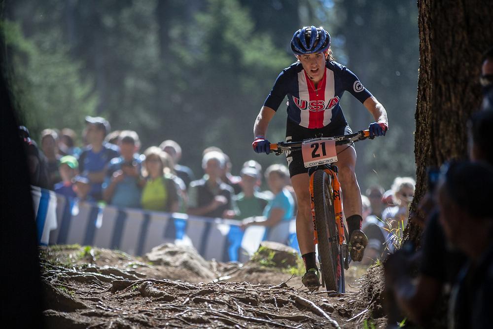 Lea Davidson (USA) during the Women Elite Cross Country event at the 2018 UCI MTB World Championships - Lenzerheide, Switzerland