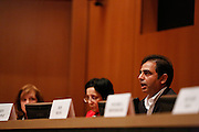 Rajeev Madnawat answers questions during the Milpitas City Council Forum at Milpitas City Hall in Milpitas, California, on October 9, 2014. (Stan Olszewski/SOSKIphoto)