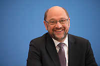 DEU, Deutschland, Germany, Berlin, 27.06.2017: SPD-Kanzlerkandidat Martin Schulz in der Bundespressekonferenz zum Thema Regierungsarbeit der SPD - Bilanz und Ausblick.