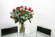 Bouquet of red roses as an element of interior design