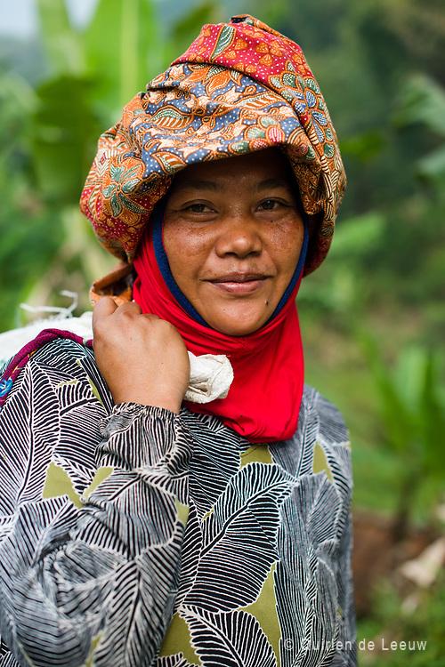 Woman posing at ricefields at Bandung high lands