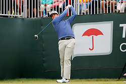 June 23, 2018 - Cromwell, CT, U.S. - CROMWELL, CT - JUNE 23: Beau Hossler of the United States drives from the 1st tee during the Third Round of the Travelers Championship on June 23, 2018, at TPC River Highlands in Cromwell, Connecticut. (Photo by Fred Kfoury III/Icon Sportswire) (Credit Image: © Fred Kfoury Iii/Icon SMI via ZUMA Press)