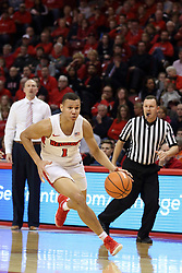 03 February 2018:  Elijah Clarance during a College mens basketball game between the Evansville Purple Aces and Illinois State Redbirds in Redbird Arena, Normal IL