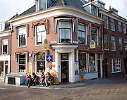 Corner cafe bar pub, Delft, Netherlands