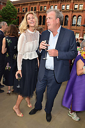 Jeremy Clarkson and Lisa Hogan at the Victoria & Albert Museum's Summer Party in partnership with Harrods at The V&A Museum, Exhibition Road, London, England. 20 June 2018.