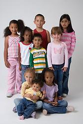 Group of children,