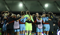 Football - 2016 / 2017 UEFA Women's Champions League - Quarter-Final, Second Leg: Manchester City [1] vs. Fortuna Hjorring [0]<br /> <br /> Nick Cushing of Manchester City speak to the team after winning the match at Academy Stadium, Manchester.<br /> <br /> COLORSPORT/LYNNE CAMERON