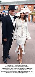 LIZ HURLEY and ARUN NAYAR at Royal Ascot on 17th June 2004.PWH 51