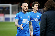 Peterborough Utd forward Marcus Maddison (21) shakes the hand of Wycombe manager Gareth Ainsworth after the EFL Sky Bet League 1 match between Peterborough United and Wycombe Wanderers at London Road, Peterborough, England on 2 March 2019.