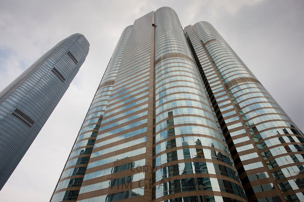 Stock Exchange at One and Two Exchange Square and IFC2 (International Finance Centre Two), Hong Kong, China