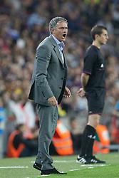 07-10-2012 VOETBAL: BARCELONA - REAL MADRID: BARCELONA<br /> Jose Mourinho // during during the Spanish Primera Division 7th round match between Barcelona FC and Real Madrid CF at Camp Nou, Barcelona<br /> ***NETHERLANDS ONLY***<br /> ©2012-FotoHoogendoorn.nl-Cesar Cebolla