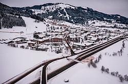 THEMENBILD - Blick auf Ellmau in Tirol, aufgenommen am 30. Januar 2019 in Ellmau, Oesterreich // View of the Village in Ellmau, Austria on 2019/01/30. EXPA Pictures © 2019, PhotoCredit: EXPA/ JFK
