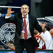 Galatasaray's coach Ekrem Memnun during their Turkish Basketball woman league derby match Fenerbahce between Galatasaray at Ulker Sports Arena in Istanbul, Turkey, wednesday, December 26, 2012. Photo by Aykut AKICI/TURKPIX