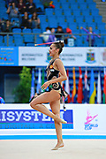 Mamun Margarita during qualifying at clubs in Pesaro World Cup at Adriatic Arena on 11 April 2015. Margarita was born November 1,1995 in Moscow.