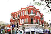 Eclectic style building in Nachlat Binyamin street Tel Aviv Israel