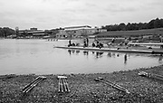 Nottingham. United Kingdom. <br /> <br /> GB Masters Championships, National Water Centre, Holme Pierrepont<br /> <br /> Saturday   10/06/2017<br /> <br /> <br /> [Mandatory Credit Peter SPURRIER/Intersport Images] General View, GV. Boathouse area, crews boating, Blades on the pebble beach area.