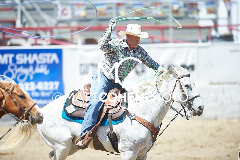 Team roper Lonnie Manning of Redding, CA competes at the Redding Rodeo in Redding, CA<br /> <br /> <br /> UNEDITED LOW-RES PREVIEW<br /> <br /> <br /> File shown may be an unedited low resolution version used as a proof only. All prints are 100% guaranteed for quality. Sizes 8x10+ come with a version for personal social media. I am currently not selling downloads for commercial/brand use.