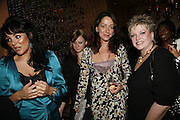 Martine McCutcheon, Miss D and Barbara mcGivern, The launch of Gilt, a new champagne lounge in the Jumeira Carlton Tower Hotel. Sloane st. London. 17 October 2006. -DO NOT ARCHIVE-© Copyright Photograph by Dafydd Jones 66 Stockwell Park Rd. London SW9 0DA Tel 020 7733 0108 www.dafjones.com