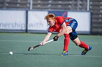 AMSTELVEEN -  Thijs Bams (Tilburg)  tijdens de hockey hoofdklasse competitiewedstrijd  heren, Amsterdam-HC Tilburg (3-0).  COPYRIGHT KOEN SUYK