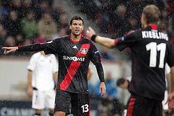 19.10.2011, BayArena, Leverkusen, GER, UEFA CL, Gruppe E, Bayer Leverkusen (GER) vs Valencia CF (ESP), im Bild.Michael Ballack (Leverkusen #13) (L) und Stefan Kiessling (Leverkusen #11) (R)..// during the UEFA CL, group E, Bayer 04 Leverkusen (GER) vs Valencia CF (ESP) on 2011/10/19, at BayArena, Leverkusen, Germany. EXPA Pictures © 2011, PhotoCredit: EXPA/ nph/  Mueller       ****** out of GER / CRO  / BEL ******