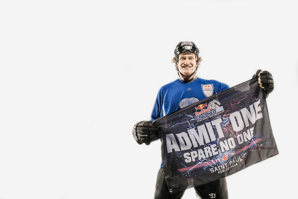 Harrison Rigsby poses for a portrait at Red Bull Crashed Ice at the Tampa Bay Skating Academy in Tampa Bay, FL, USA on 4  January 2014.