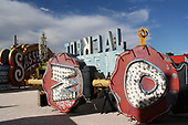 Sin City's neon graveyard where rusting cowboys, Indians and martini glasses finally see their rest