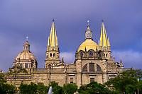 Metropolitan Cathedral (Catedral Metropolitana), Plaza de Armas (square) in the historic Center of Guadalajara, Jalisco, Mexico