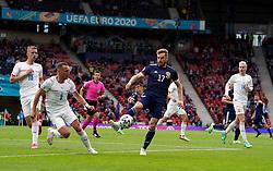 Scotland's Stuart Armstrong (centre) and Czech Republic's Vladimir Coufal battle for the ballduring the UEFA Euro 2020 Group D match at Hampden Park, Glasgow. Picture date: Monday June 14, 2021.
