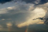 Sky with rainbow.