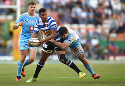 Cape Town-181020 Western Province Damian Willemse challenged by Ernst van Rhyn of  the Vodacom Blue Bulls in the Currie Cup Semi-final game at Newlands  .Photographer:Phando Jikelo/African News Agency(ANA)