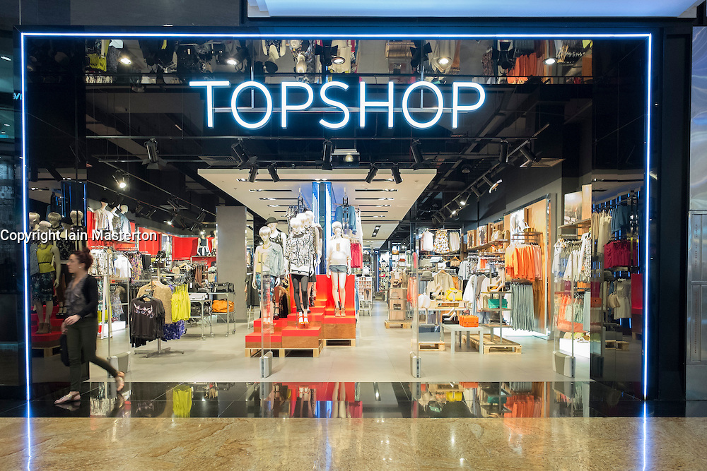 Topshop store at  Mall of the Emirates shopping centre in Dubai United Arab Emirates
