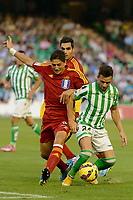 Jesus Vazquez (L) and Ruben Castro (R) during the match between Real Betis and Recreativo de Huelva day 10 of the spanish Adelante League 2014-2015 014-2015 played at the Benito Villamarin stadium of Seville. (PHOTO: CARLOS BOUZA / BOUZA PRESS / ALTER PHOTOS)