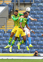 West Bromwich Albion's Semi Ajayi beats Blackburn Rovers' Darragh Lenihan to the ball<br /> <br /> Photographer Dave Howarth/CameraSport<br /> <br /> The EFL Sky Bet Championship - Blackburn Rovers v West Bromwich Albion - Saturday 11th July 2020 - Ewood Park - Blackburn <br /> <br /> World Copyright © 2020 CameraSport. All rights reserved. 43 Linden Ave. Countesthorpe. Leicester. England. LE8 5PG - Tel: +44 (0) 116 277 4147 - admin@camerasport.com - www.camerasport.com